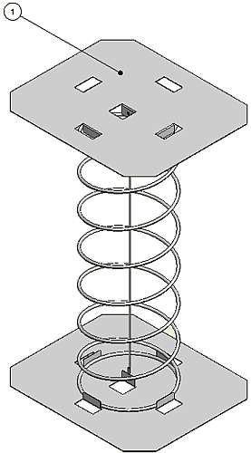 070-0094-00 Elevator Spring Assembly